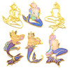Mermaid Theme Open Bezel Charms (4 pieces)