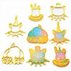 Carnival Animal Theme Open Bezel Charms (4 pieces)