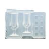 3D Wine Glass with Ice Cubes Silicone Mold