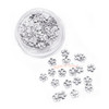 Silver Sakura Metal Embellishment Inclusions (100 pieces)