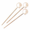 Plum Blossom Flower Open Bezel Hair Stick (2 pieces)