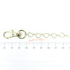 Sliver Heart Shape Chain with Lobster Clasp (2 pieces)