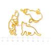Crown Fan Kitty Open Bezel Charm (3 pieces)