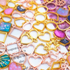 Small Dotted Outline Gold Bezel Charm (9 pieces)