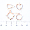 Small Wavy Outline Rose Gold Bezel Charm (4 pieces)