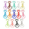 Colourful Heart Snap Clasp Key Ring (3 pieces)