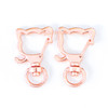 Rose Gold Kitty Cat Snap Clip Swivel Ring (5 pieces)