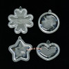 Puffy Blanks Shaker Acrylic Charm (2 pieces)