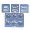 Miniature 3D Hollow Heart Silicone Mold (4 pieces)
