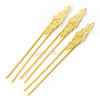 Gold Filigree Hair Pin Accessory (3 pieces)