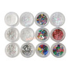 White Colorful Christmas Glitters Mix (12 pieces)