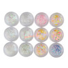 Pastel Color & White Theme Glitters Mix (12 pieces)