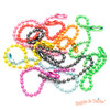 Colorful Assorted Ball Chains (2.4mm x 10cm) (15 pieces)