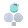 Round Checkered Trinket Box Silicone Mold (Exclusive)
