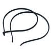 Black Cloth Head Band (8 pieces) (5mm)