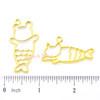 Mermaid Cat Open Bezel Charm (2 pieces)