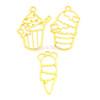 Ice Cream Open Bezel Charm (3 pieces)