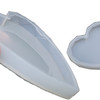 Faceted Heart Coaster Silicone Mold (2 sizes)