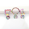 Rainbow Color Shift Snap Clasp Swivel Ring (3 pieces)