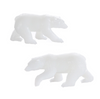 Polar Bear Miniature Figurine Insertion (2 pieces)