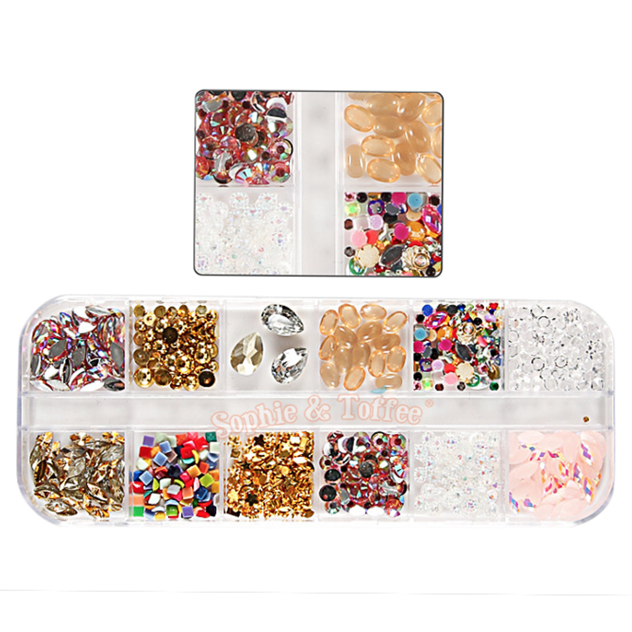 Nail Art Charms Embellishments Assortment Resin Fillers | Gold Nail ...