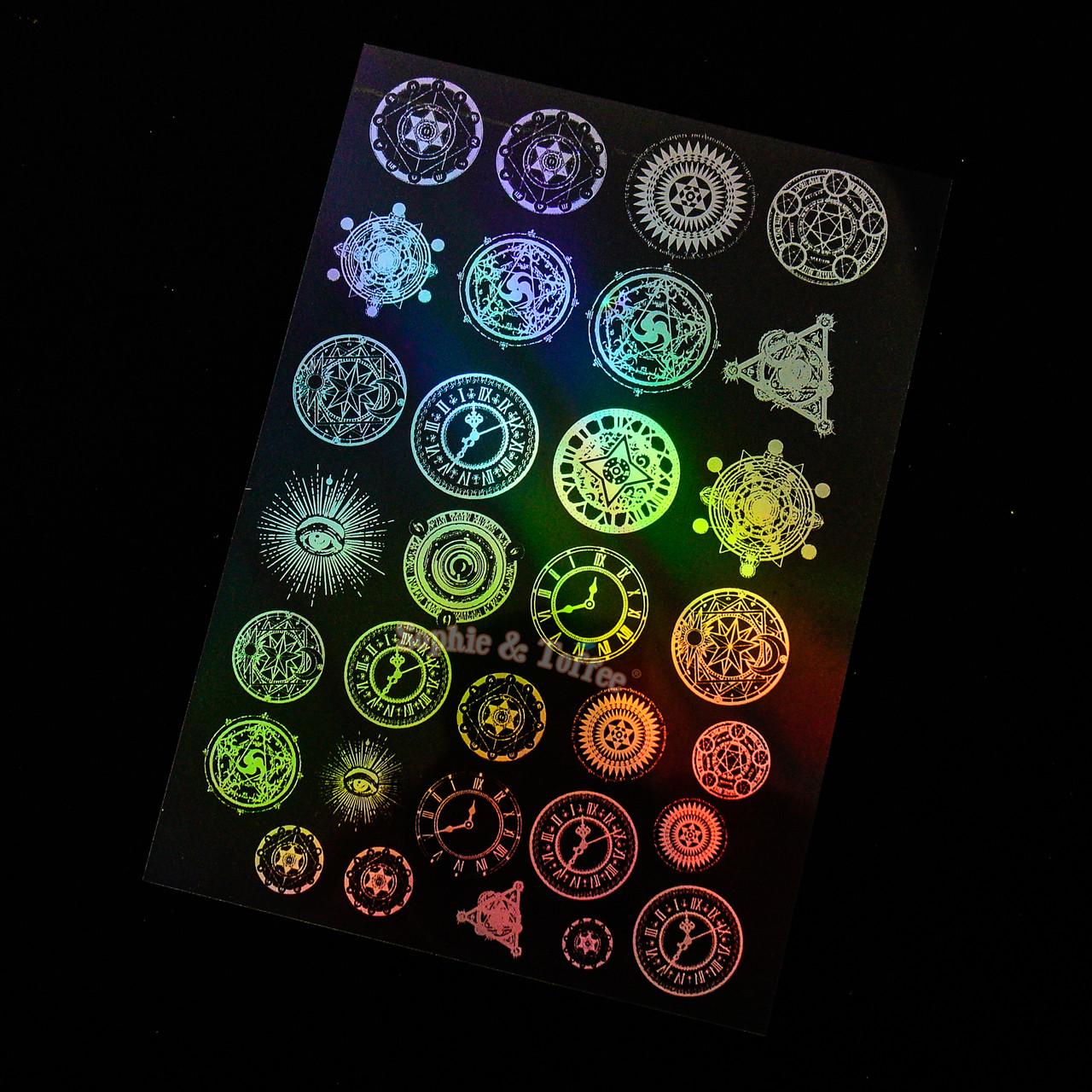 Holographic Clocks And Magic Circles Design Film