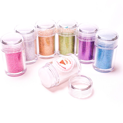 Iridescent Fine Glitter - 8 Colors Pack (10g ea)