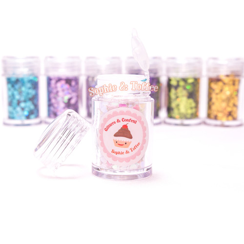 Holographic Heart Glitter - 8 Colors Pack (10g ea)