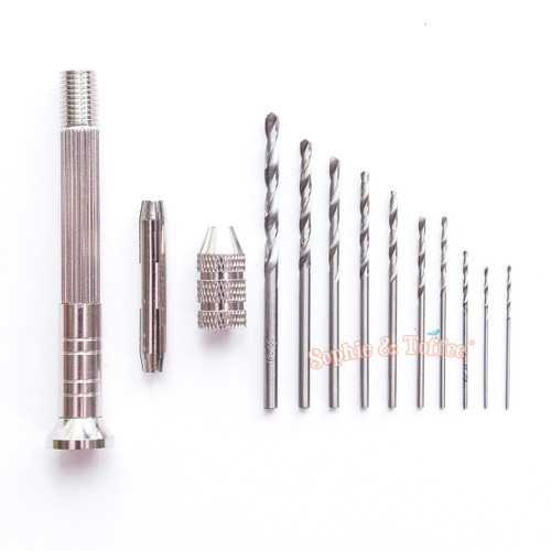 Drill Bits & Tool Kit for Resin Cabochons (10 drill bits)