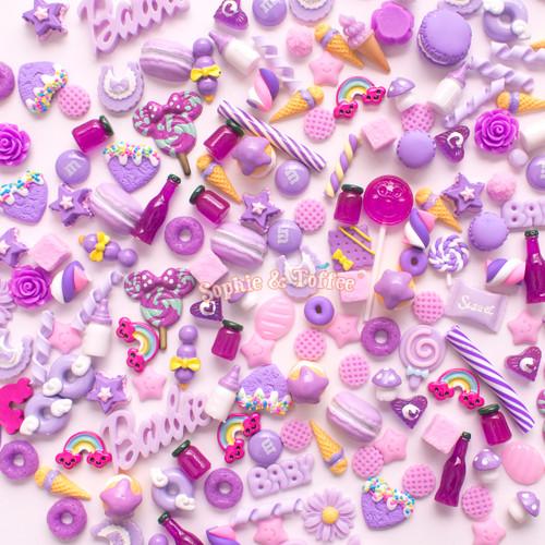 Purple Theme Cabochons Grab Bag - 20 pieces