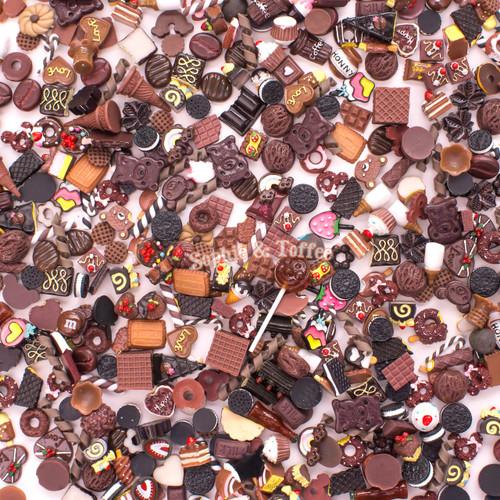 Brown Theme Cabochons Grab Bag - 20 pieces
