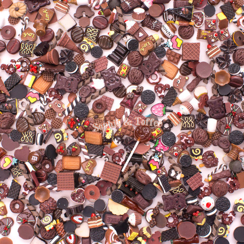 Brown Theme Cabochons Grab Bag - 20 pieces