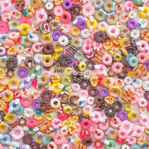 Doughnuts Theme Cabochons Grab Bag - 20 pieces