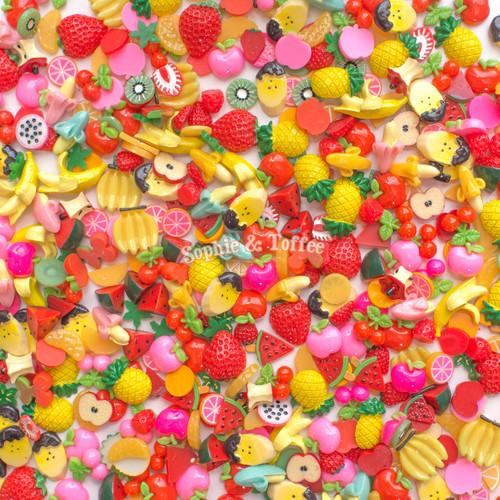 Fruits Theme Cabochons Grab Bag - 20 pieces
