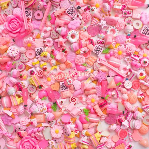 Pink Theme Cabochons Grab Bag - 20 pieces