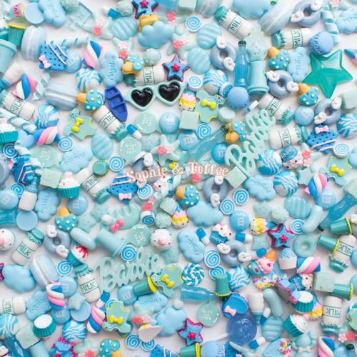 Blue Theme Cabochons Grab Bag - 20 pieces