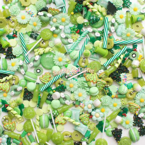 Mint Theme Cabochons Grab Bag - 20 pieces