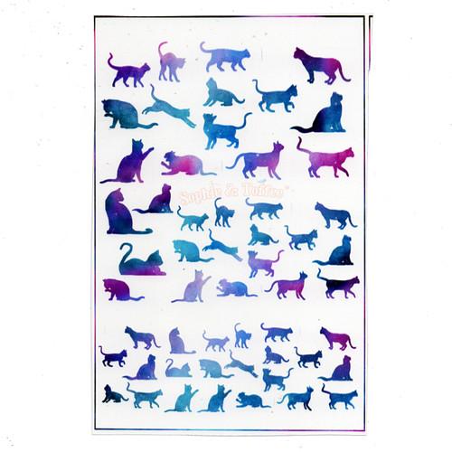 Enchanting Gradient Cats Design Film (for UV Resin)