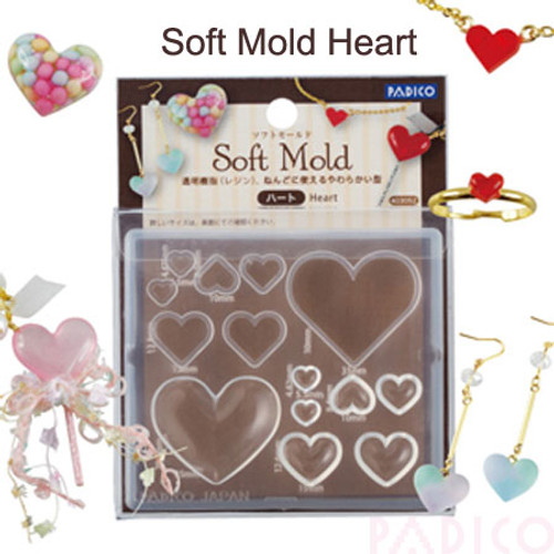 Heart Shapes Soft Silicone Mold (made in Japan)