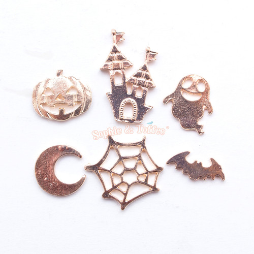Halloween Metal Embellishment Set (12 pieces)