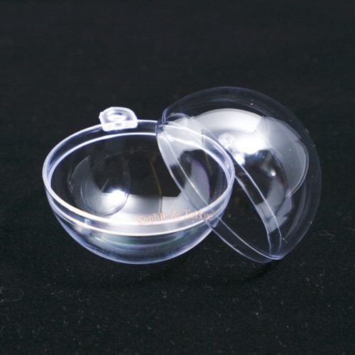 Empty Plastic Globe Ball Hanging Charm Glass Globe Hanging Globe