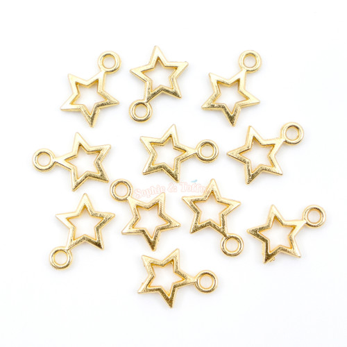 Mini Magical Stars Open Bezel Charms (30 pieces)
