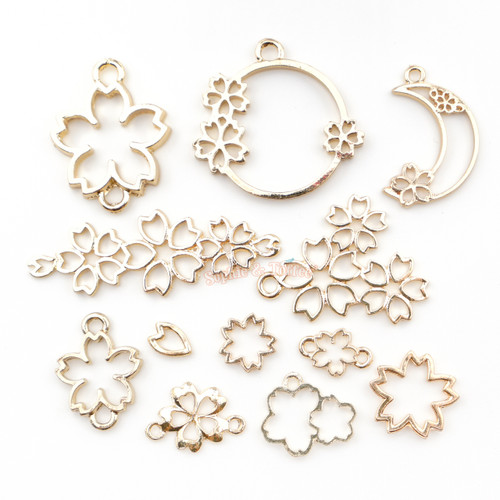 Sakura Cherry Blossom Theme Open Bezel Set (10 pieces)