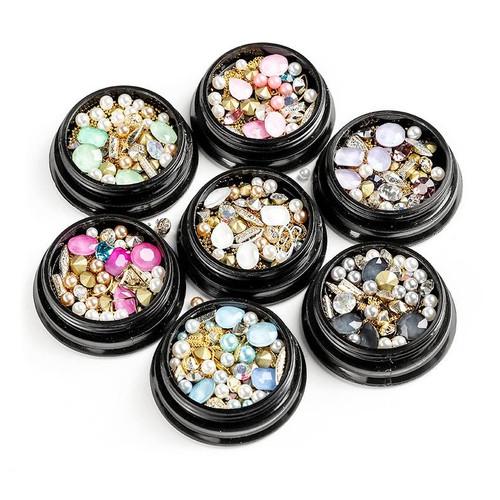 Pastel Gems Pearls Metal Embellishments