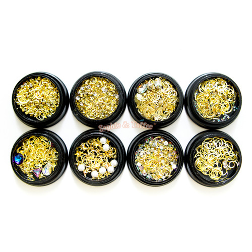 Magical Girl Star Moon Gold Assorted Inclusions Resin Fillers