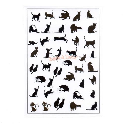 Black Cat Silhouette Design Film (for UV Resin)