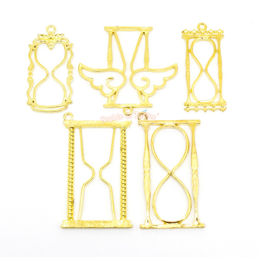 Magical Hourglass Theme Open Bezel (5 pieces)