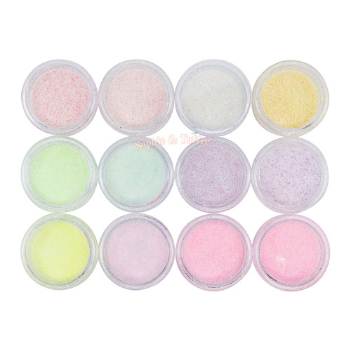 Pastel Candy Glitters (12 pots)