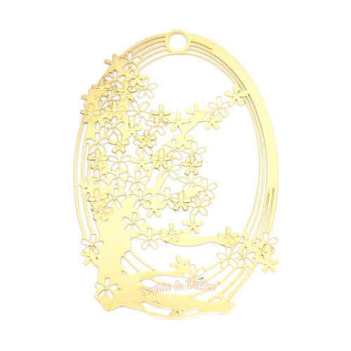 Sakura Branch Metal Gold Foil Resin Frame Backing (2 pieces)