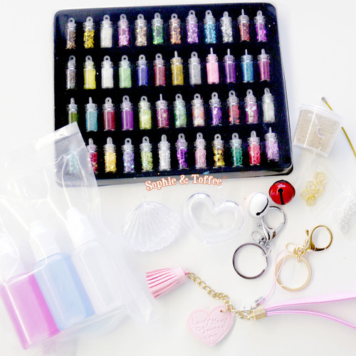 Puffy Heart Shaker Charm Resin Kit
